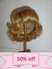 34 cm BRAVOT G 100/% cheveux naturels PERRUQUE POUR POUPEE T11 30/% PROMO