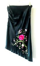 Womens Forever 21 Black Rose Skirt sz S 8 (HU)