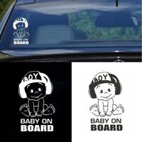 """Auto Baby On Board Stickers Car Vehicle Warning Sign Decal Decoration 4.7""""x7"""""""