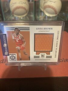 2021 Chronicles Encased Draft Picks Greg Brown Substantial Rookie Swatches