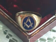 More details for mens gold ring freemasons
