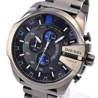 NEW DIESEL DZ4329 Mens Watch Mega Chief Gunmetal Chronograph Stainless DZ4329