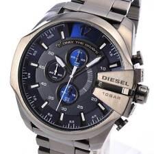 Neuf diesel DZ4329 montre homme mega chief black chronographe acier inoxydable DZ4329