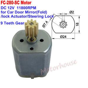 FC-280SC DC 12V 24mm Car Door Lock Actuator Folding Mirror Rearview Repair Motor