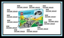 LEGO education set 9241 wheel tire axle lot 4 plane ship crane car ATV truck NEW
