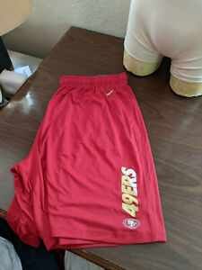 NFL San Francisco 49ers Team Issued on-Field Nike Dri-Fit S/S Shorts Size 4XL
