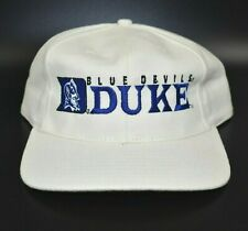 Duke Blue Devils NCAA Vintage 90's Twins Enterprise Strapback Cap Hat - NWT