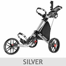 Caddytek EZ Fold 3-wheel Golf Push Cart Silver