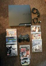 Sony PlayStation 3 Slim 250GB Charcoal Black Console (CECH-2103B) Bundle