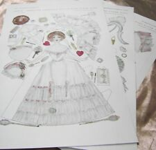 ANTIQUE PAPER DOLLS 1910s ADELE w/2 DRESSES CAROLYN CHESTER DELINEATOR REPRO