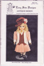1361 Brown House Dolls - JACKET SKIRT VEST HAT DICKEY - DOLL Sz: 15-16""