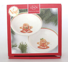 Lenox Home for the Holidays Gingerbread Set of 2 Bowls 875035 New in Box
