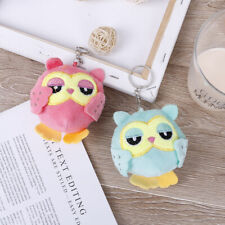 9Cm key chain toys plush stuffed animal owl toy small pendant dolls party giftES