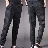 Men High Quality Fashion Velvet Winter Trousers Sports Jogger Pants Sweatpants