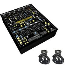 Behringer DDM4000 32-bit 4-Channel Digital Professional DJ Mixer & 2 XLR Cables