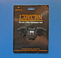 Hallmark PIN Halloween Vintage BAT VAMPIRE Googly EYES Flocked Holiday NEW