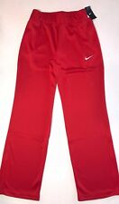 $60 Nike Womens Size Medium Dri Fit Athletic Training Sweat Pants Red White