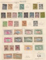 REUNION - INTERESTING MINT AND USED COLLECTION ON ALBUM PAGES - Z919