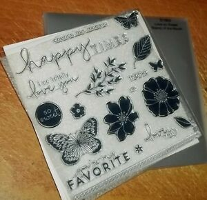 CTMH S1904 LOVE SO SWEET ~ You're my FAVORITE, Butterflies, Flowers, happy times