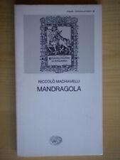 MandragolaMachiavelli NiccolòEinaudi1984collezione di teatro33classici 4