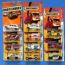 Matchbox  2009  Emergency Fire & Police  #55 to 61 - LOT OF 11 VEHICLES - MOC