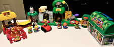 Fisher Price Little People Zoo with Lunch Box, animals and figures Lot