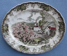"Johnson Bros Friendly Village 12"" Village Green Oval Platter Made in England"