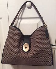 Coach Authentic Carryall Exploded Reps in Mlk/Black Turn Lock- 425.00 Retail NWT