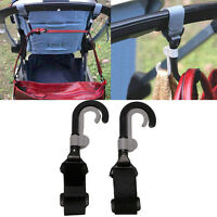 2Pcs Infant Baby Stroller Hook Holder Pram Double Rotate Hook Pushchair Hanger