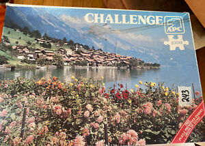Vintage Opened Challenge 1000pc APC Puzzle - Brienzersee, Switzerland