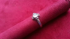 925 Sterling Silver *Size 7 *5X Beautiful White Gems Solid Band Ring
