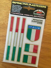 APRILIA ITALIAN FLAG ITALY REFRACTIVE REFLECTING STICKERS EMBLEM MADE ITALY