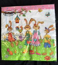 20 Beautiful Easter Bunny Hare Napkins Spring Tea Party Serviette Vintage Style
