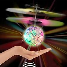 Electric RC Fly Ball Infrared Induction Aircraft LED Flash Light Remote Kid Toy