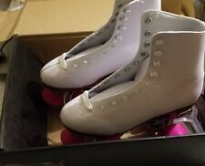 Chicago Women's Classic Roller Skates - Premium White Quad Rink Skates - Size 6