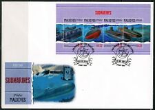 MALDIVES 2018 SUBMARINES SHEET FIRST DAY COVER