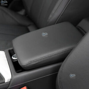 Center Console Armrest Box Cover Leather Protection Pad For Audi A4 B9 2017-2019