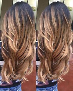 100% Brazilian Remy Human Hair Wigs Long Ombre Real Human Wigs