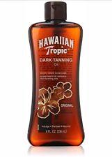 Hawaiian Tropic Dark Tanning Oil Lotion Coconut Sun Care Skin Moisturizing 8 Oz