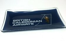 More details for 1970's british caledonian airways advertising glass pin dish nut dish 16x8 cm's