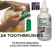 Top Performance Pet Dog Cat Pro Dental Oral Care GEL TOOTHPASTE&24 TOOTHBRUSH