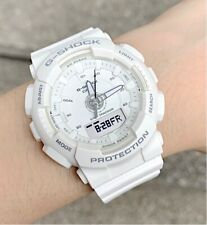 Casio G-Shock S Series * GMAS130-7A Step Tracker White Resin Watch for Women