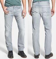 NWT $198 7 For All Mankind Slim Straight Leg Medium-Lightweight Jeans in Gray