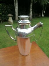 More details for 1920`s silver plated 1.5 pint cocktails shaker with handle spout lemon squeezer