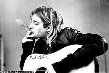 "KURT COBAIN POSTER ""SMOKING"" LICENSED ""NIRVANA"" BRAND NEW"