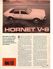 1970 AMC HORNET 304/210 HP ~ ORIGINAL 5-PAGE ROAD TEST / ARTICLE / AD