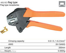 0.5-1.5 1.5-2.5mm2 Crimper Crimping Tool for 4.8 6.3 Flag Type Receptacles