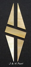 "1""x2.7""x0.05"" Gold Mother of Pearl Split Diamond Inlay for Gibson Style Guitars"
