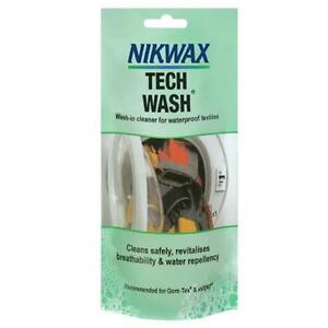 Nikwax Tech Wash 100ml high performance cleaner wet weather clothing Gore TEX -