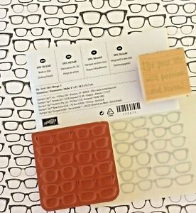 Stampin Up SpecTacular Glasses Sunglasses Clear Mount Rubber Stamp+Vision Phrase